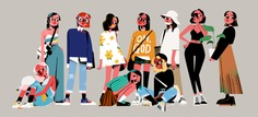 Two Styles of Girls illustrations on Behance