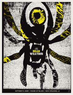 GigPosters.com - Dead Weather, The #gigposter #screenprint