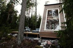 Micro Cabin in Finland Photo #cabin #milk #design