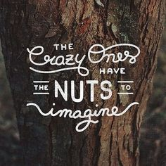 The crazy ones have the guts to imagine - lettering by Mark Van Leeuwen #quote #typography