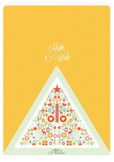 Christmas card made by Alice Amiel - 2012 #christmas #tree #card #noel #carte #swish #voeux