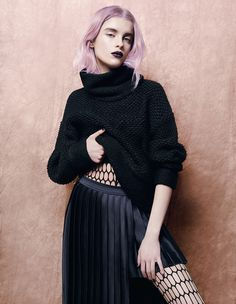 CLAUDIA - KALTBLUT MAGAZINE #fashion #womenswear #pink