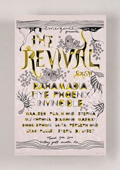 The Revival at SXSW #type #drawn #hand #poster