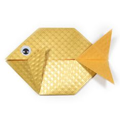 How to make an easy origami fish (http://www.origami-make.org/howto-origami-fish.php)