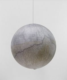 Russell Crotty - Planet #sculpture #globe #crotty #drawing #russell #planets #paper