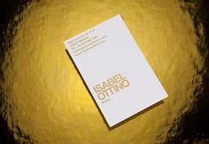 Isabel Ottino / Fashion stylist & consultant. 2011 #card #identity