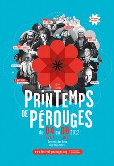 Spring Festival of Pérouges - Brand identity on Behance #illustration #minimal #poster #typography