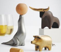 Whimsy Animal Wine Opener #tech #flow #gadget #gift #ideas #cool