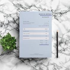 Invoice Template | Editable Invoice | Blue Invoice | Word Invoice | Invoice Design | Custom Invoice | Modern Invoice | Professional Invoice