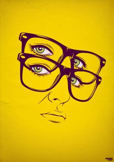 Graphic design #glasses #yellow