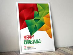 https://dribbble.com/shots/1831385-Abstract-Christmas-Flyer #abstract #modern #flyer #christmas #poster #template #download