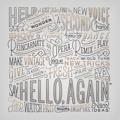 Hello Again by Erik Marinovich #creative #design #lettering #typography