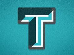 Typography / Brought to you by the letter T #letter #brought #typography