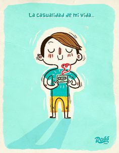 """La casualidad de mi vida"" ross.mx #direction #creative #illustration #art"