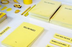 PAPIER LABO. » BLOG. #yellow #note