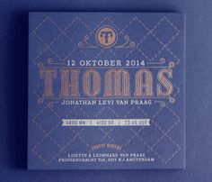Letterpress birth announcement by Letterpress Winkel