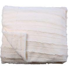 Channel Plush Throw Ivory 125cm x 150cm