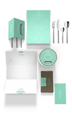 Restaurant Corporate Identity on Branding Served #plate #menu #restaurant #brand #green