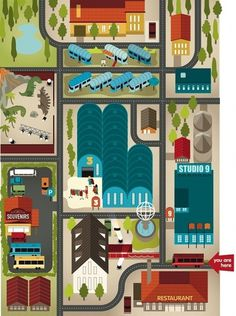 Cities, Roads & Factories on the Behance Network
