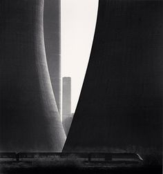 Michael Kenna #concrete #infrastructure #engineering #cooling towers