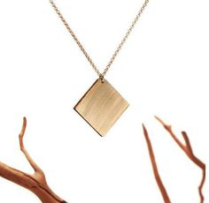 Union Square Pendant by Kahokia Design #union #design #pendant #kahokia #square #brass #necklace #york #nyc #jewelery #brooklyn #new