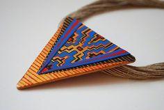 Zaczarowana Walizka #etnic #rope #jewellery #triangle #jewelry #recycling #gold #necklace #fashion