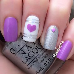 45+ Purple Nail Art Ideas