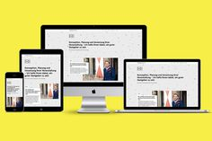 Eventbüro Bettray by Paul Schoemaker #website #web design #yellow