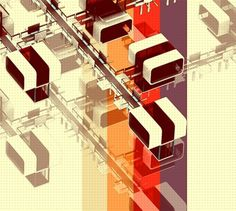 TOASTER CITY on the Behance Network #city #design #graphic #digital #architecture #art #toaster