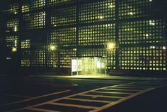 Boston. December, 2011. #brick #film #bus #garage #stop #parking #transportation