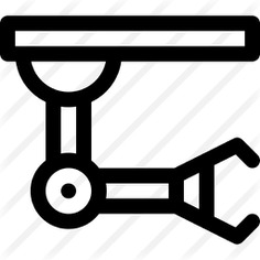 See more icon inspiration related to robotic arm, mechanical arm, industrial robot, manipulator, robot, mechanical, electronics, industrial, industry and factory on Flaticon.