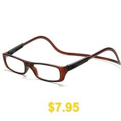 Men #Women #Reading #Adjustable #Hanging #Neck #Magnetic #Front #Presbyopic #Glasses #Degree #- #BROWN
