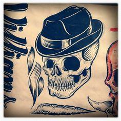 Design;Defined | www.designdefined.co.uk #skull #head #label
