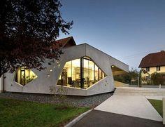 Unusual Home Addition: Bau Sallinger Office in Austria