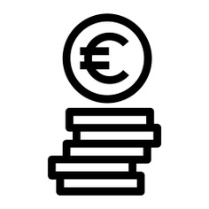 See more icon inspiration related to euro, money, coin, bank, coins, currency, business and finance, commerce and business on Flaticon.