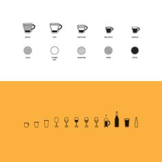 Drinks by Matt Lawson Design #beer #drink #icons #wine #glass #illustration #mug #coffee #cup
