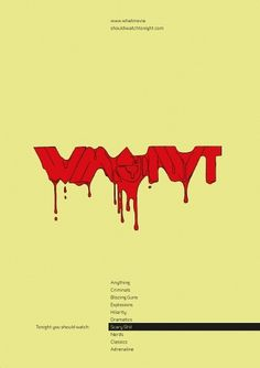 What Movie Should I Watch Tonight / BLOG / Posters #blood #design #horror #dripping #illustration #poster #film #movies