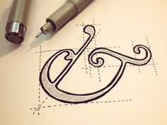 Dribbble - To Build an Ampersand by Sean McCabe #typography #hand drawn #ampersand #pen