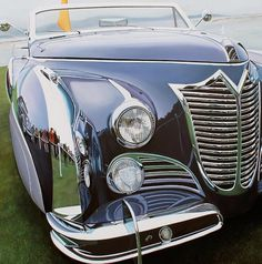 Realistic Old Polished Cars Paintings -6 #painting #car #art #realistic