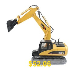 HUINA #1550 #1:14 #2.4GHz #15CH #RC #Alloy #Excavator #- #RTR #- #YELLOW