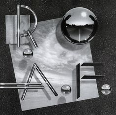 AIGA Design Archives #album #los #space #cover #airbrush #1981 #80s #angeles #chrome #willardsonwhite