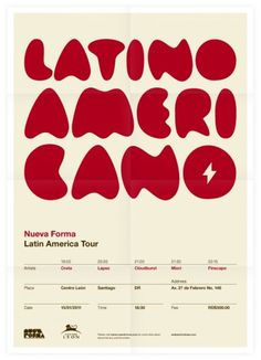 Nueva Forma Latin America Tour Poster #inspiration #creative #design #graphic #grid #system #poster #typography