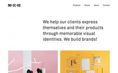 noeeko website webdesign portfolio studio beautiful minimal inspiration mindsparklemag no ee ko style website award logos design studio bran