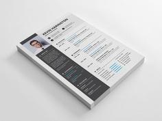 Free Professional Indesign Resume Template with Elegant Design