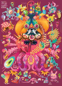 monster and birds #illustration #poster