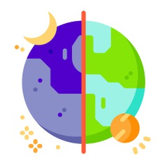 See more icon inspiration related to earth, space, time and date, miscellaneous, orbit, day and night, rotation, education and nature on Flaticon.