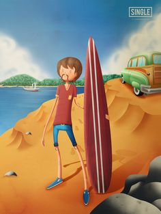 Lets Go Surfing | Flickr – Compartilhamento de fotos! #surf #surfing #design #alice #illustration #estudio #brazil #beach