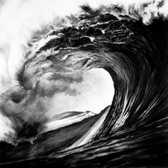 ROBERT LONGO - Works - MONSTERS, 2000 - Untitled (Backdoor Pipeline, Hawaii, Spring '99) #charcoal