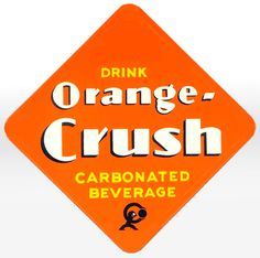 Orange Crush soda label #orange #label #logo #soda #crush #typography
