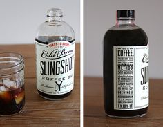 Sling Shot, package, label, coldpress, brew, coffee